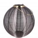 nagyker Lámpások: Fémlámpás titán, D20cm, H22cm, antracit